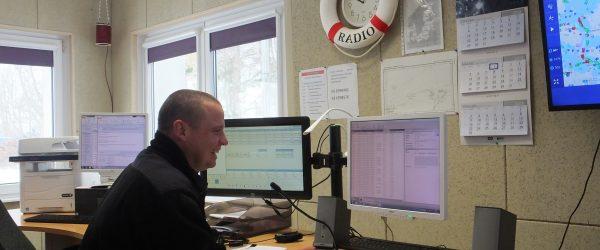 Piotr Lewandowski w stacji brzegowej Witowo Radio